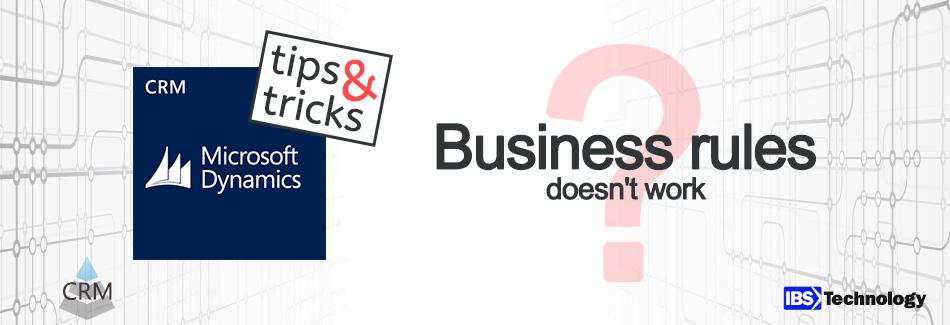Geschäftsregeln funktionieren nicht
