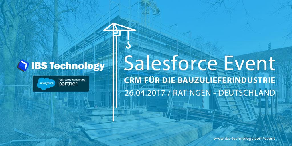 Salesforce Veranstaltung für die Bauzulieferindustrie