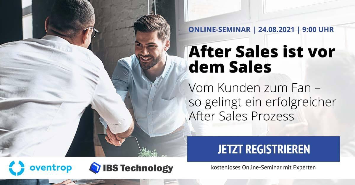 After Sales ist vor dem Sales Online-Seminar IBS Technology